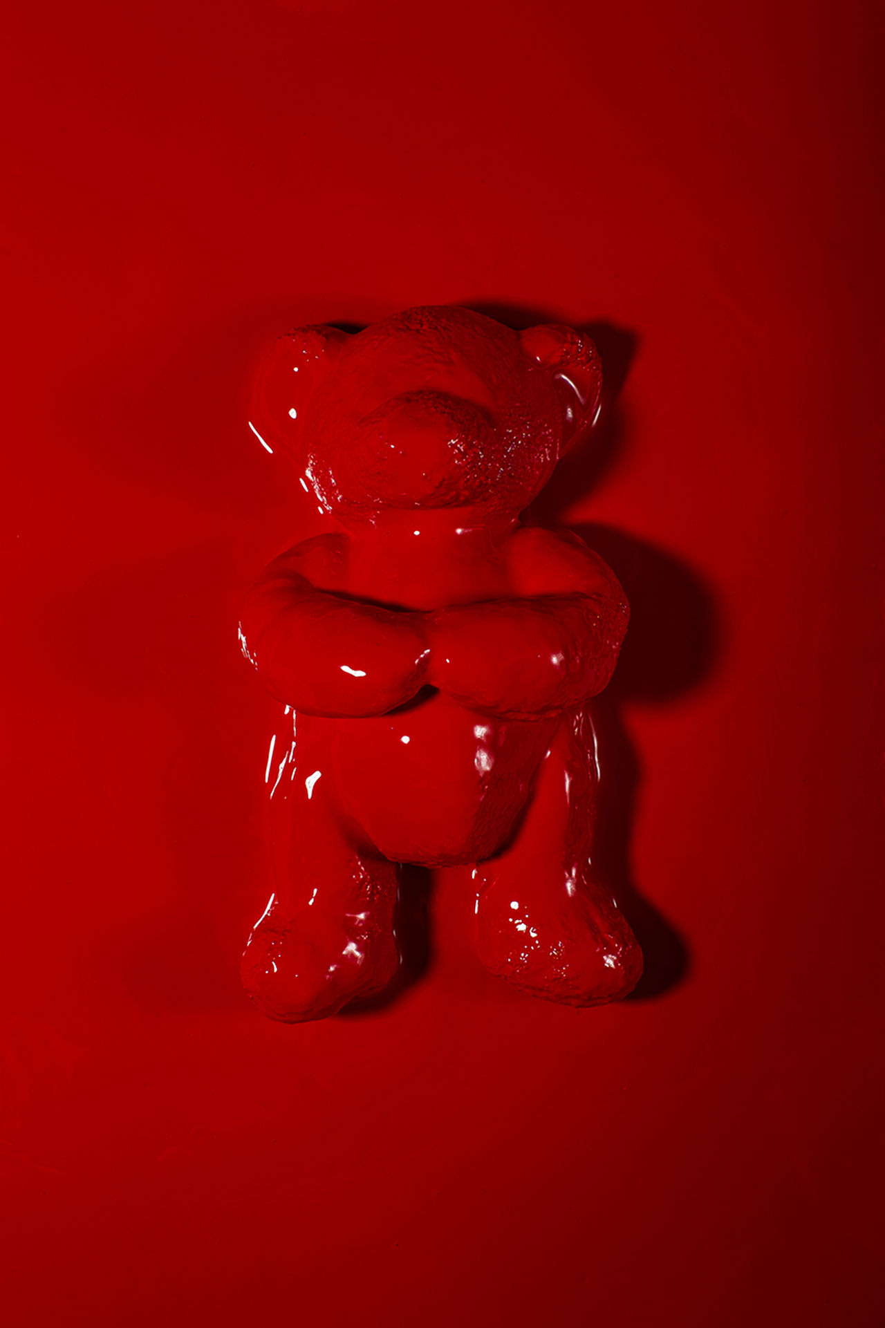 Beautiful stock photos of teddy bear, Childhood, No People, Red, Red Background