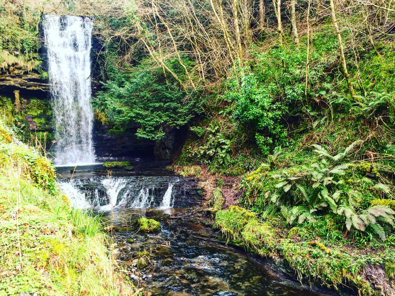 Glencar Waterfall Waterfall Stream County Leitrim Republic Of Ireland Ireland Glencar Waterfall