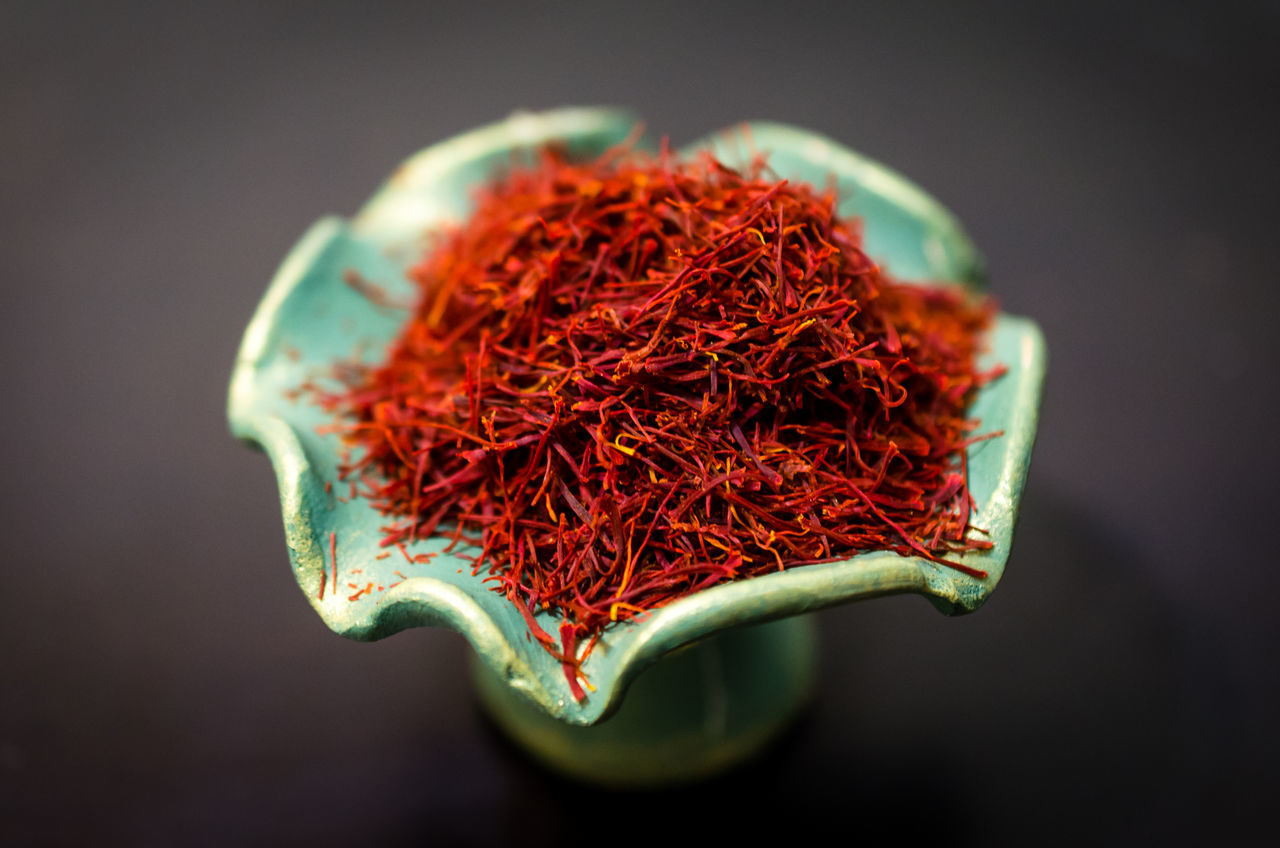 Aroma Aromatic Best Saffron Close-up Costly Day Flower Food And Drink Fragility Freshness Indoors  No People Red Saffron Studio Shot Sweet Food Sweet Smell Wonderful Smells
