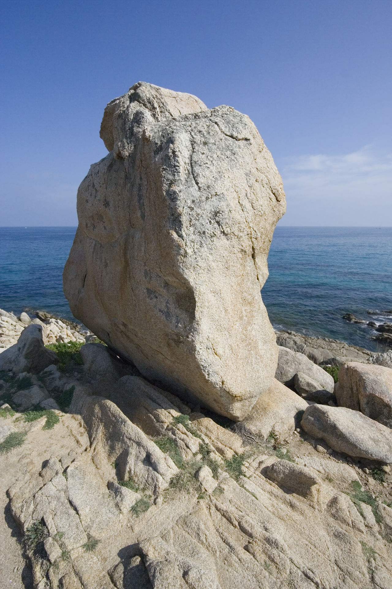 giant menhir at the seashore - waiting for obelix Boulder Clear Sky Cliff Coast Coastline Côte D'Azur France Giant Granite Horizon Over Water Mediterranean Sea Menhir Nature No People Obélix Rock Rock - Object Rock Formation Rocky Coastline Sea Stone Tranquil Scene Tranquility Water Wilderness