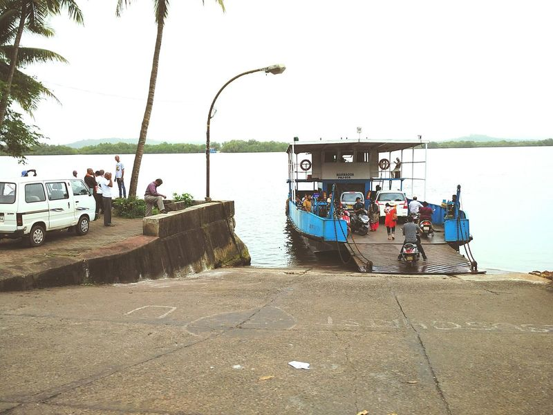 Ribandar - Chorao Ferry Ribandar Chorão Ferry Ferryboat Ferry Boat Ferry Views Ferry Travel River Navigation Goa Goa India Transportation Transport Goan Goa Tourism Goenkar Travel Tourist Attraction  Tourism Destination Mandovi River River Side Scenery Waterscape Waterbody Vessel
