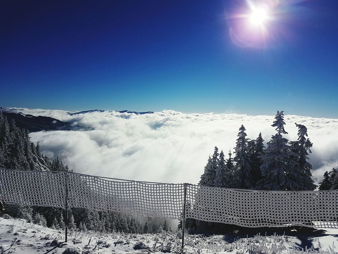 Snow Winter Landscape Sky Mountain Outdoors Over The Clouds Poiana Brasov Clear Sky
