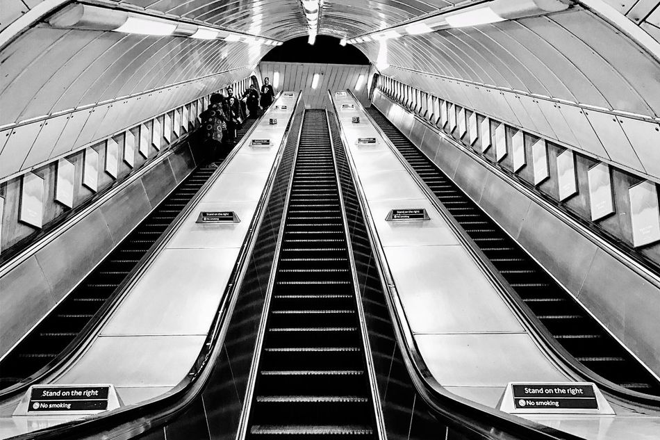 Architecture Built Structure Modern London Streets EyeEmBestPics Peoplephotography London Lifestyle EyeEm London LONDON❤ Streetphotography IPhoneography EyeEm Best Shots - The Streets From My Point Of View Urban Lifestyle Urban City Life Escalator London London Underground Underground Notes From The Underground Light And Shadow EyeEm Best Shots Architecture Geometric Shapes