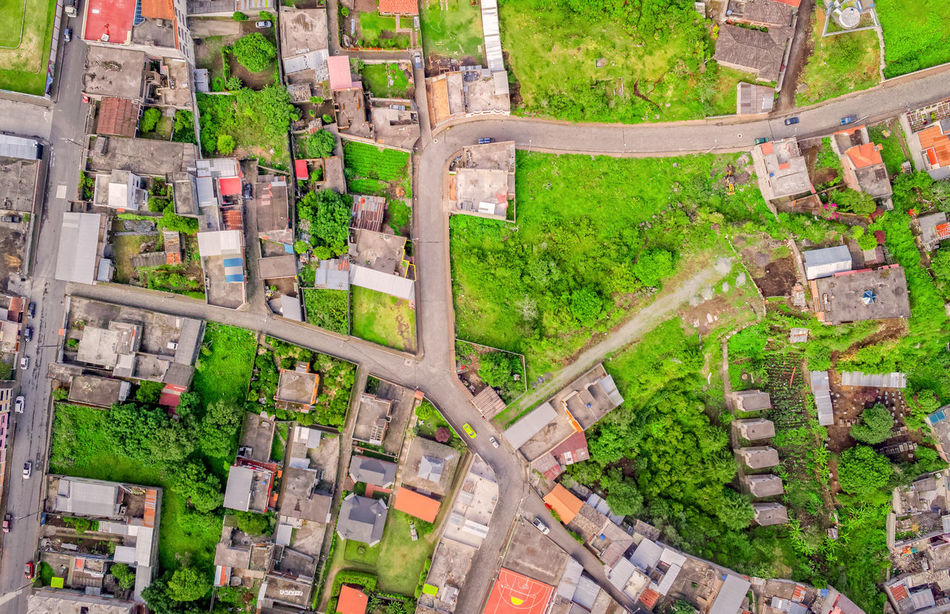 Aerial Photo From Flying Drone Of Banos De Agua Santa, Touristic Town, Tungurahua Province, South America Aerial Aerial View Altitude Andes Architecture BañosEcuador Business Finance And Industry City City Life Crowded Day Green Houses Infrastructure Intersection Nature No People Outdoors Panamericana Panoramic Road South America Street Streetphotography Travel Destinations