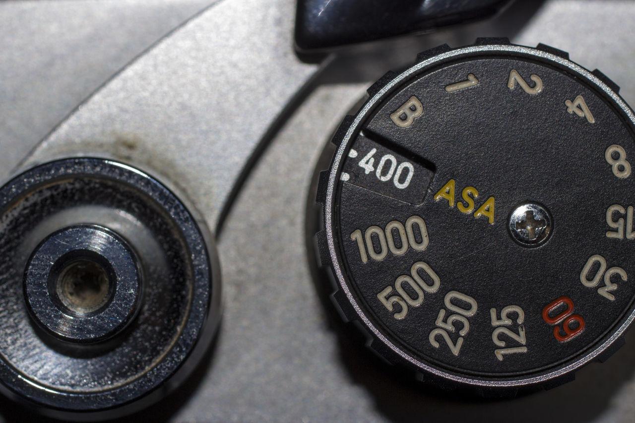 advanced technomology Analog Antique Black Color Close-up Crank Film Camera Gauge ISO Lever No People Number Old Speedometer Technology Vintage Macro