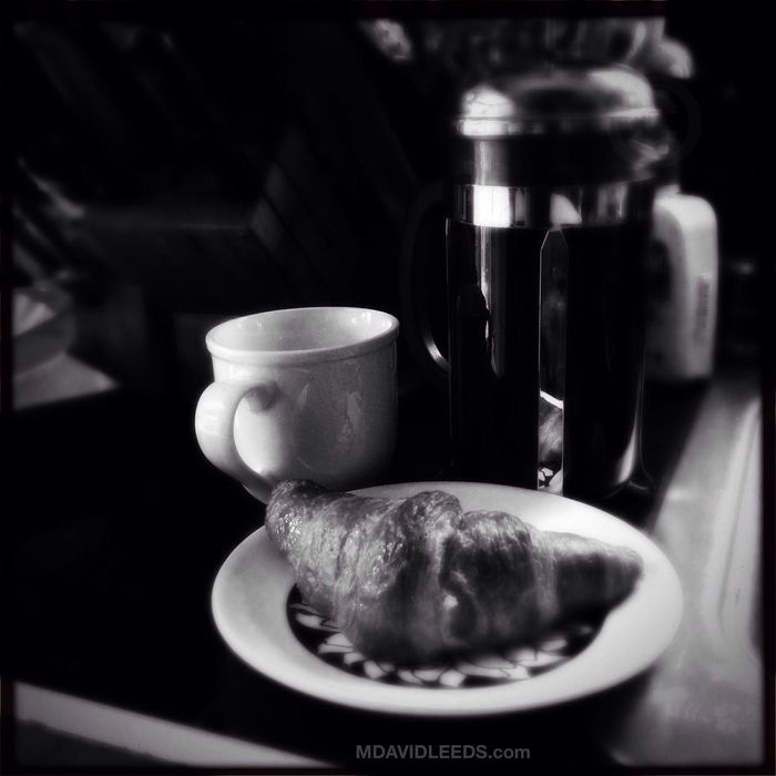 Now that's more like it. Blackandwhite French Press And A Croissant Mdavidleeds Photos Hipstamatic