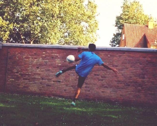 Having Fun Love My Life Playing Football And Living My Life