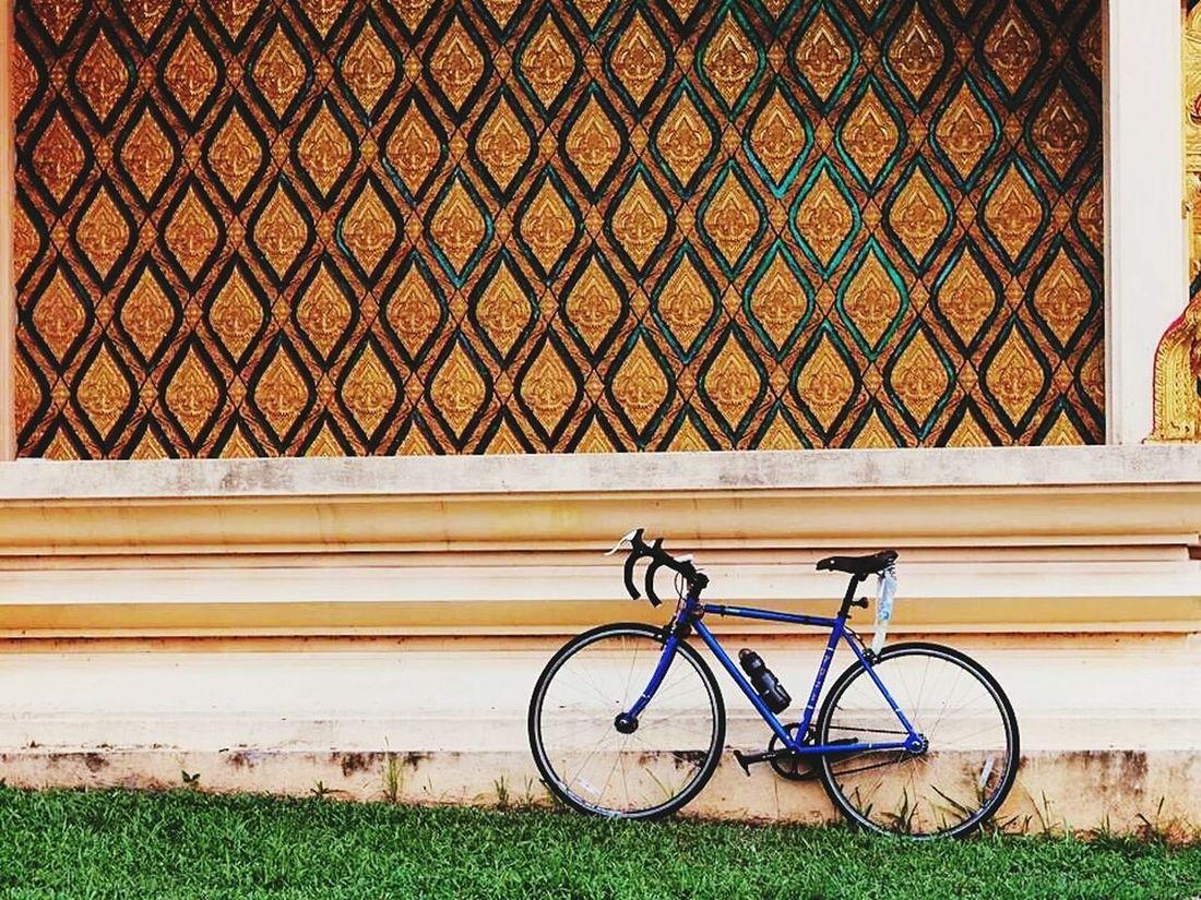 Great wall !! Thai Temple Thai Cultural Enjoy Cycling Fuji Bicycle