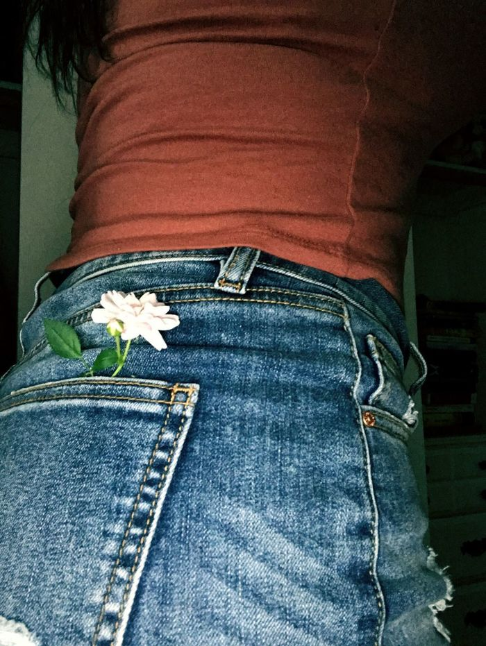 Jeans Casual Clothing Pocket  Fashion Close-up Textile One Person Day People Flower