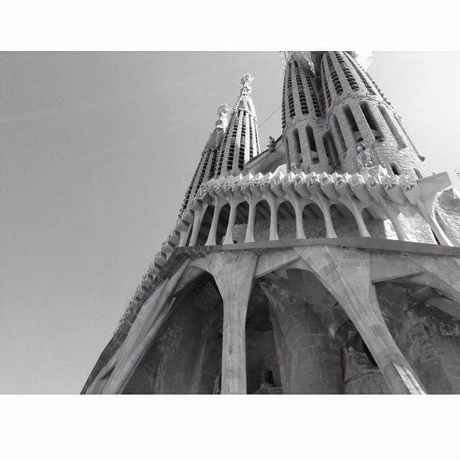 Barcelona Holidays Sun Sky Beautiful City España Blackandwhite Taking Photos Hello World Enjoying Life Landscape Eyemphotography Photography Memories Followme Gaudi Sagrada Familia