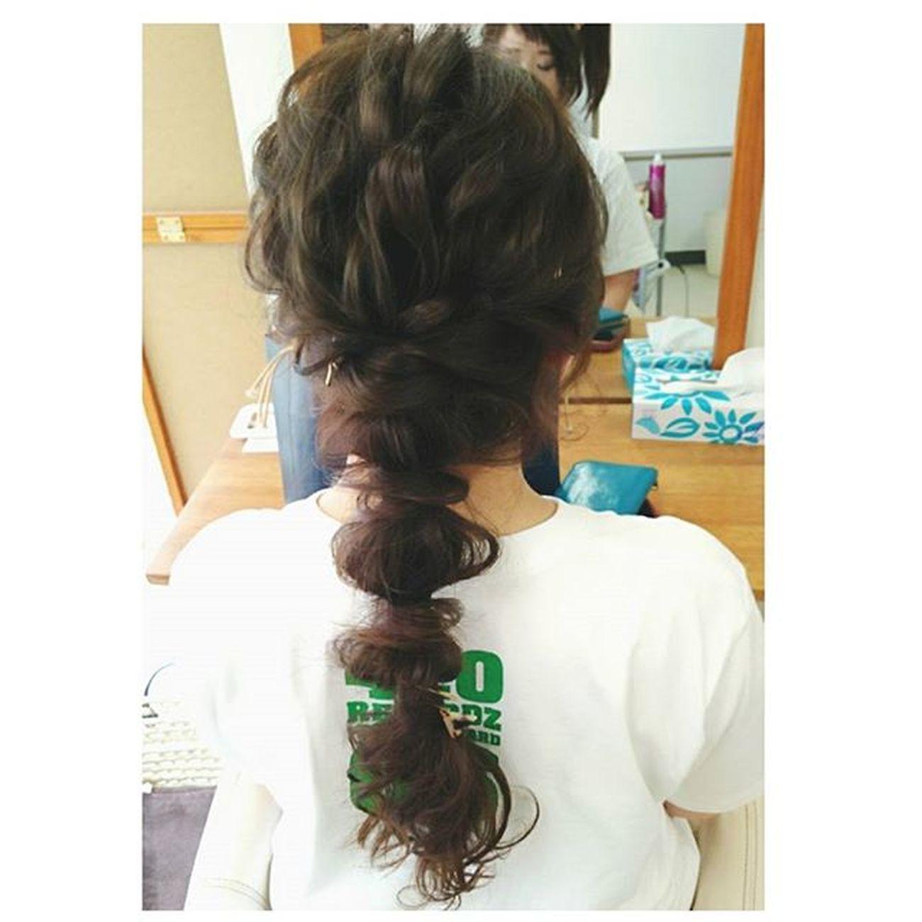 ヘアセット専門店 ヘアセット ブライダル Love ヘアー ヘアアレンジ Byshair Locari これなんて名前の髪型だろ?(´・ω・`)♡ 大人かわいいカジュアル♡ レゲエイベント 錦 美容室 Hair Hair お洒落