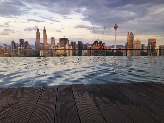 Infinity Pool looking over Kuala Lumpur Cityscape Infinity Pool Kuala Lumpur Malaysia The Great Outdoors - 2016 EyeEm Awards The Great Outdoors With Adobe