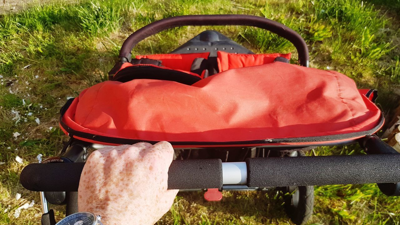Red Summer Grass Vacations Outdoors Adult Day People Nature Close-up One Person Pushchair Buggy Double Pushchair