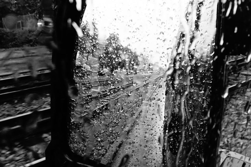 Water Day Close-up No People Indoors  First Eyeem Photo Rainy Days EyeEm Raindrops Mirror Picture Blackandwhite Black & White