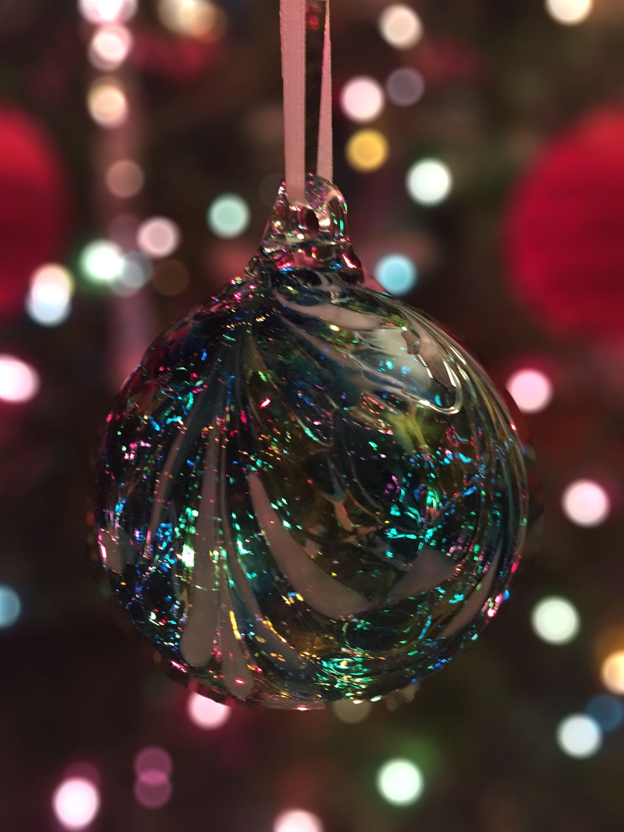 An ornament on our Christmas tree Christmas Decorations Christmas Ornament ❄⛄ Christmas Tree Holidays IPhoneography Dof Bokeh Hand Blown Showcase: December Ladyphotographerofthemonth IPS2015Xmas