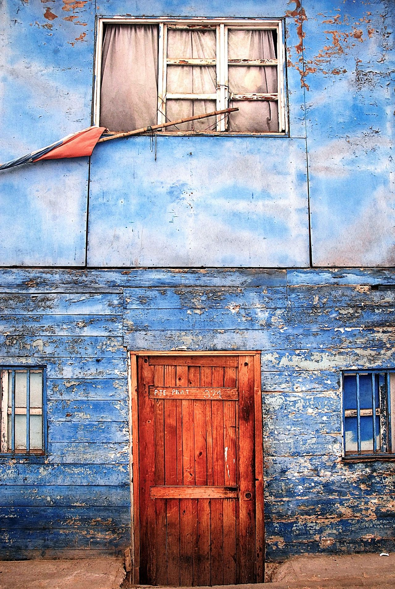 Architecture Built Structure Building Exterior Closed Door Day Outdoors Weathered No People Residential Building Full Frame Close-up Sky Iquique Chile