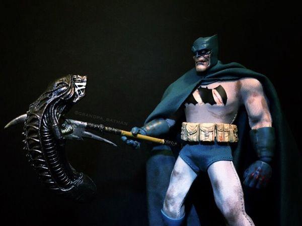 Gotham is safe after AlienDay426 Darkknightreturns Actionfigures Toyphotography Batman FrankMiller DkR Darkknight Mezcotoyz One12collective Necatoys