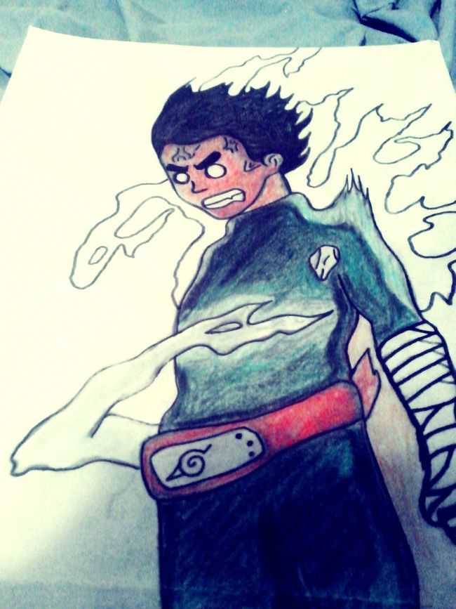 Rocklee Drawing Draw Anime Colors Art, Drawing, Creativity Not Nice