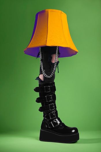 Rebel rebel. Studio Shot One Person Shoe Fashion Low Section Women Close-up Indoors  Day People Leg Lamp Lamp Badass model: Abominatrix