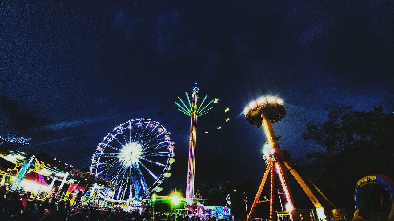 Ferris Wheel Night Illuminated Nightlife Sky Amusement Park No People Outdoors