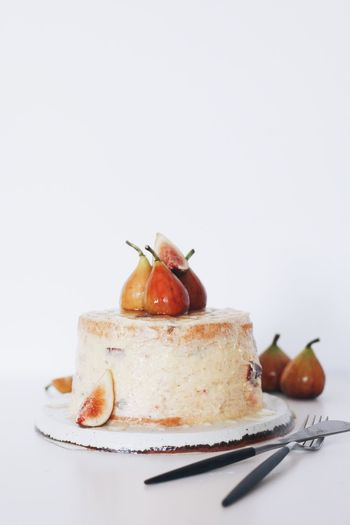 Fig Cake Fig Cake Food And Drink Food Freshness Still Life Plate Studio Shot SLICE Indulgence Ready-to-eat Indoors  Sweet Food White Background No People Healthy Eating Close-up Serving Size Fruit Gourmet Dessert The Week On EyeEm EyeEmNewHere Lifestyles