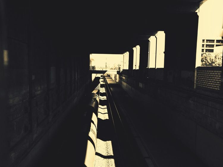 Train Track Shadow Architecture Built Structure City Day Cityscape EyeEm Outdoors Silhouette Cityscape