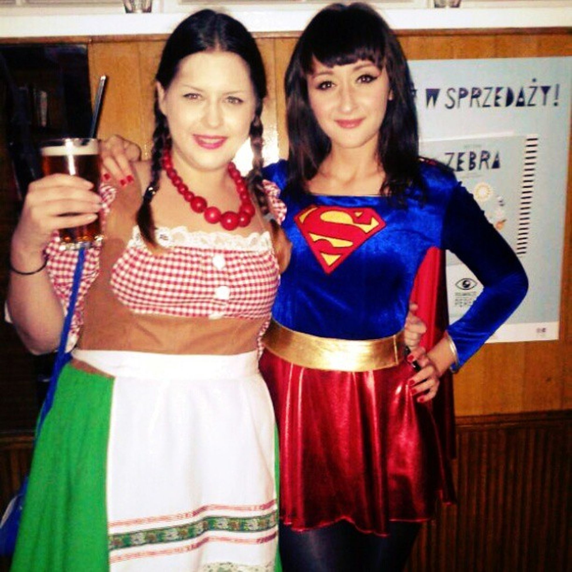 Halloween Party Impreza Dzik Super_girl Kostium Friends Beautiful Girl Jest_super