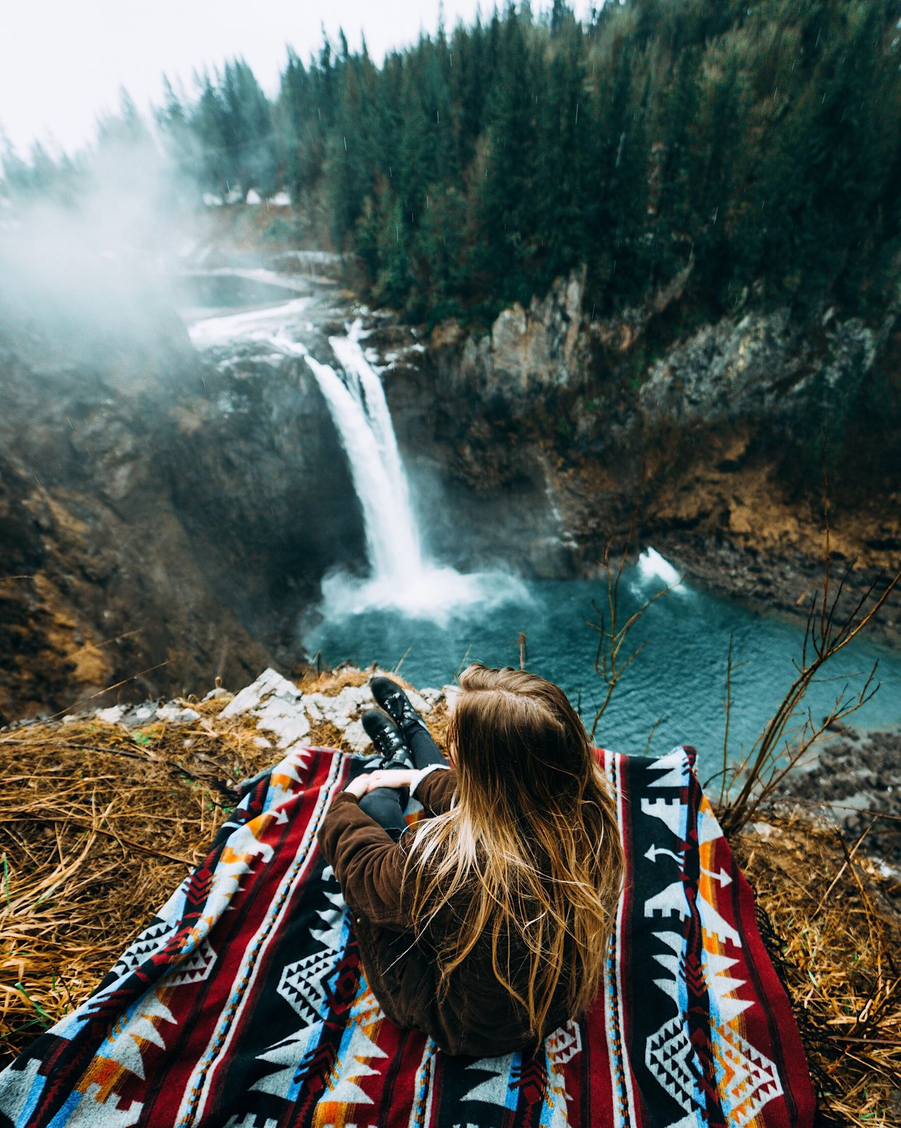 I need an adventure. Rear View Waterfall Adventure Day Outdoors Women Motion Adult People Real People Adults Only Nature Scenics Men Water Only Women One Person Young Adult