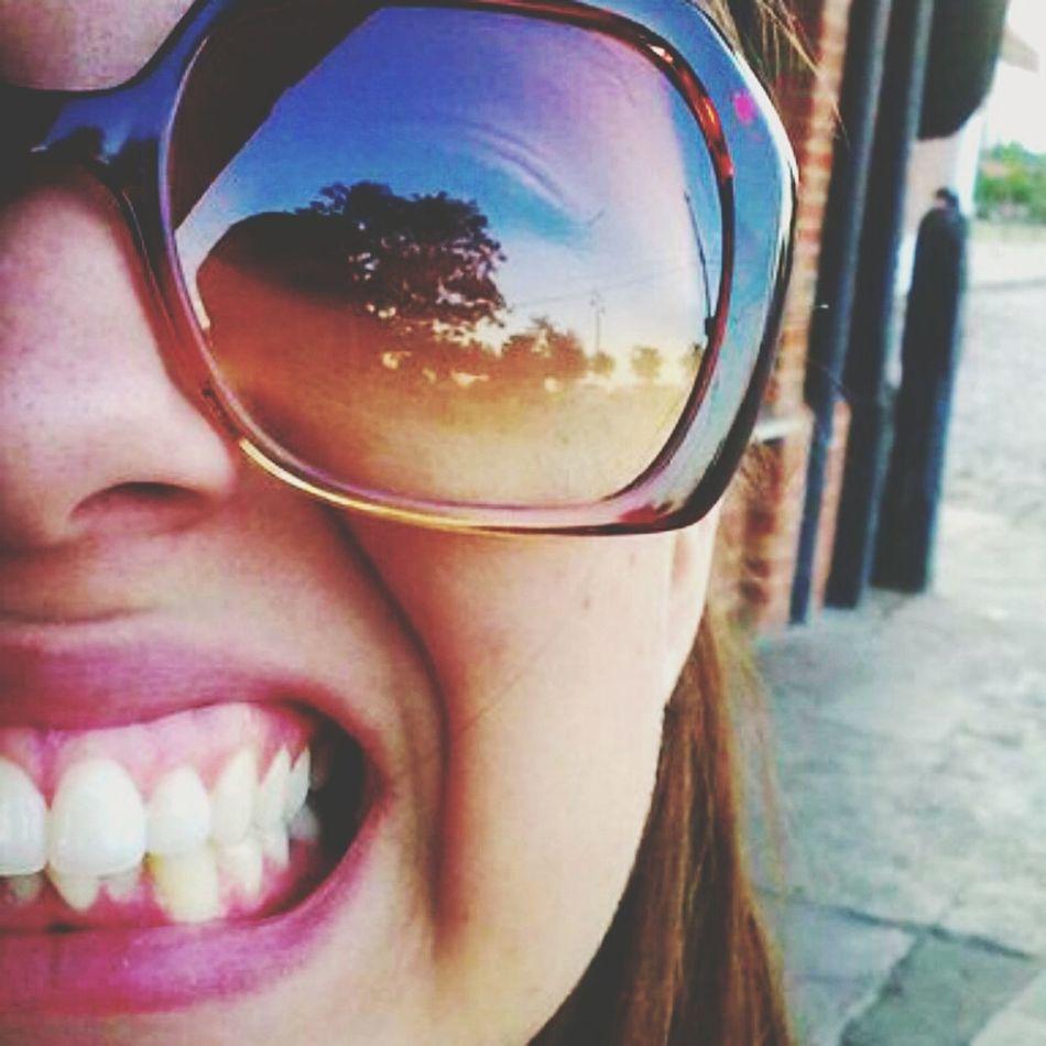 Sunglasses Reflection Sunrise