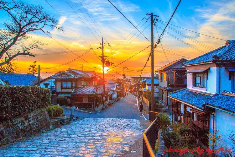 Sunset in Kyoto Sunset Kyoto, Japan