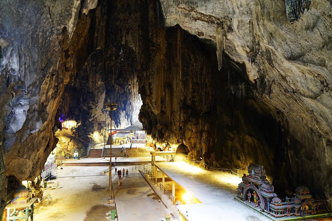 Batu Caves in Kuala Lumpur, Malaysia, Asia Attraction Batu Caves Deity God Gods Hindu Hinduism Kuala Lumpur Landmark Malay Malaysia Religion Sculpture Travel