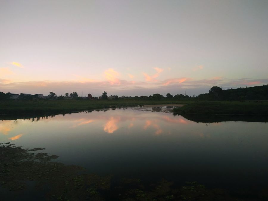 Water Reflection Tranquil Scene Tranquility Scenics Water Reflection Tranquil Scene Scenics Tranquility Sunset Lake Beauty In Nature Sky Orange Color Waterfront Idyllic Nature Cloud Standing Water Majestic Cloud - Sky Non-urban Scene Countryside AdamTurnerPhotography
