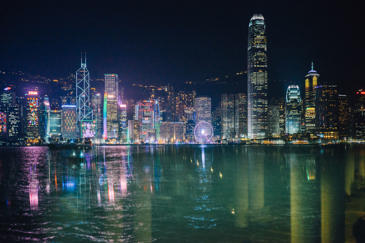 It is a reflection by the glass at the pier. Cities At Night City City Life City Lights City View  Cityscapes Hong Kong HongKong Landscape Landscapes Night Lights Nightlife Nightshot Reflection Reflection_collection Reflections