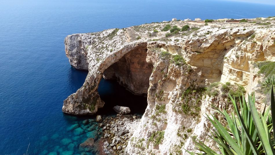 Blue Grotto Malta Beauty In Nature No People Rock Formation Tranquility Water
