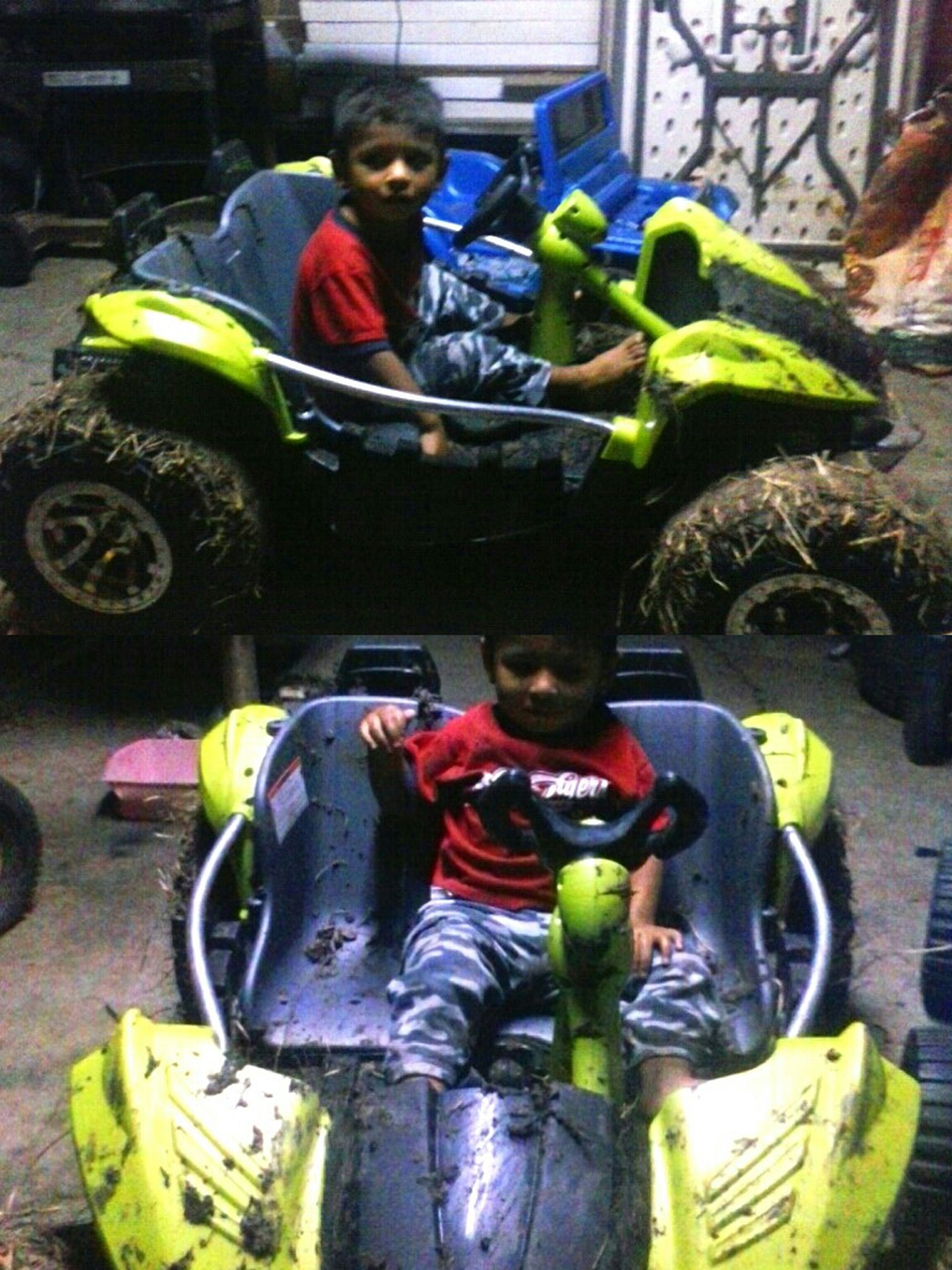 Lil Bro Wint Modding In His 4x4 Buggy