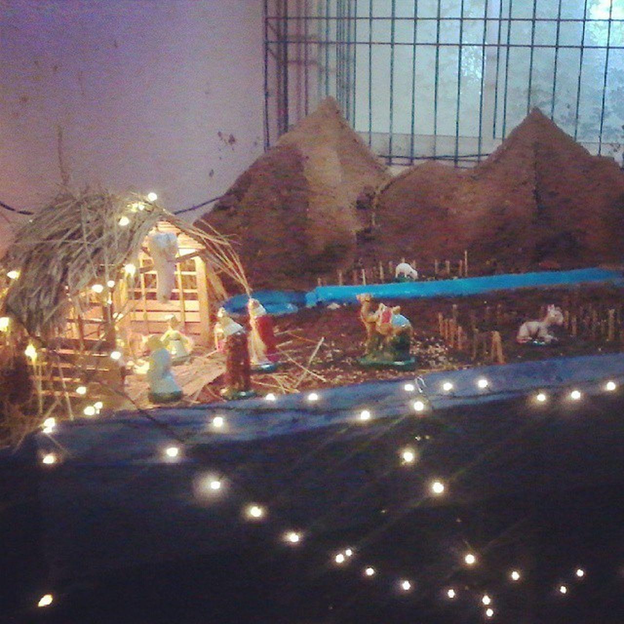 Nativity_Scene Illuminated Decoration Art Night Chrismas Celebration