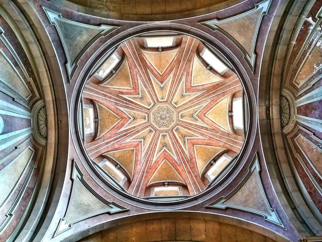 Architecture Built Structure Ceiling Low Angle View Architectural Feature Indoors  Place Of Worship Religion Design Arch Directly Below Church Dome Architectural Design Creativity History Taking Photos Eeyem Photography Urban Reflections Urbanexploration EyeEm Best Shots Eeyemgallery Enjoying The View Getty Images EeYem Best Shots