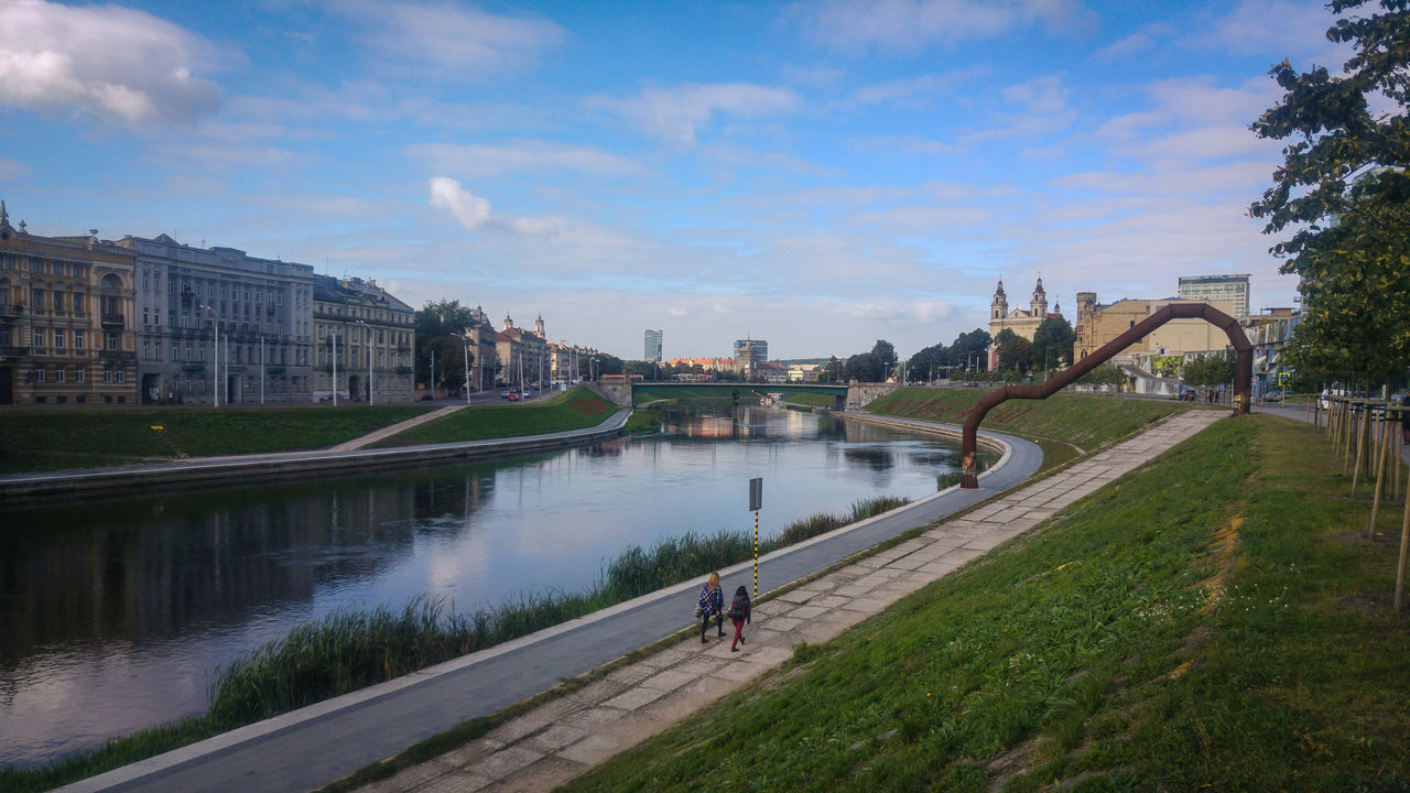 Architecture Bridge - Man Made Structure City Day Lithuania Neris Outdoors Perspective River Sky Travel Destinations Urbanphotography Vilnius Vilnius City Water