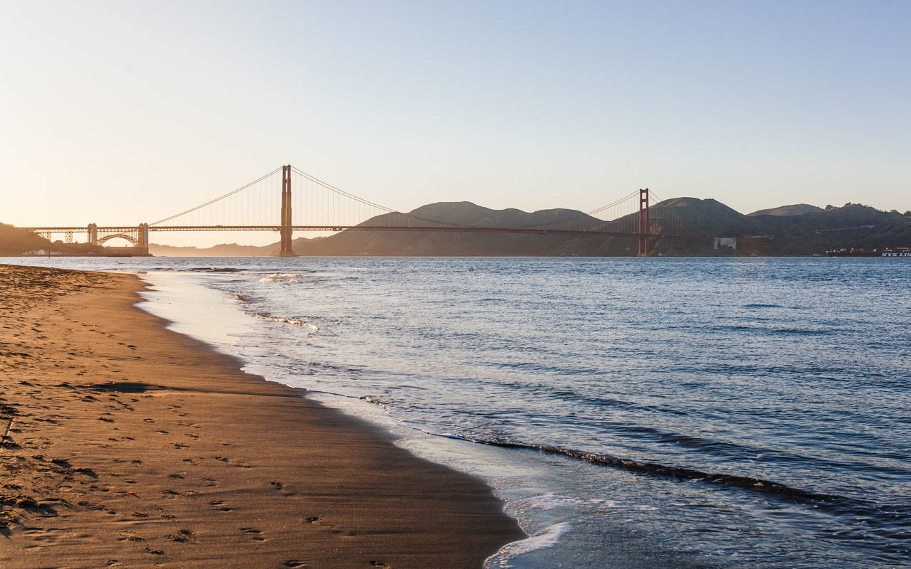 Beautiful stock photos of san francisco, Bay Of Water, Beach, Beauty In Nature, Bridge - Man Made Structure