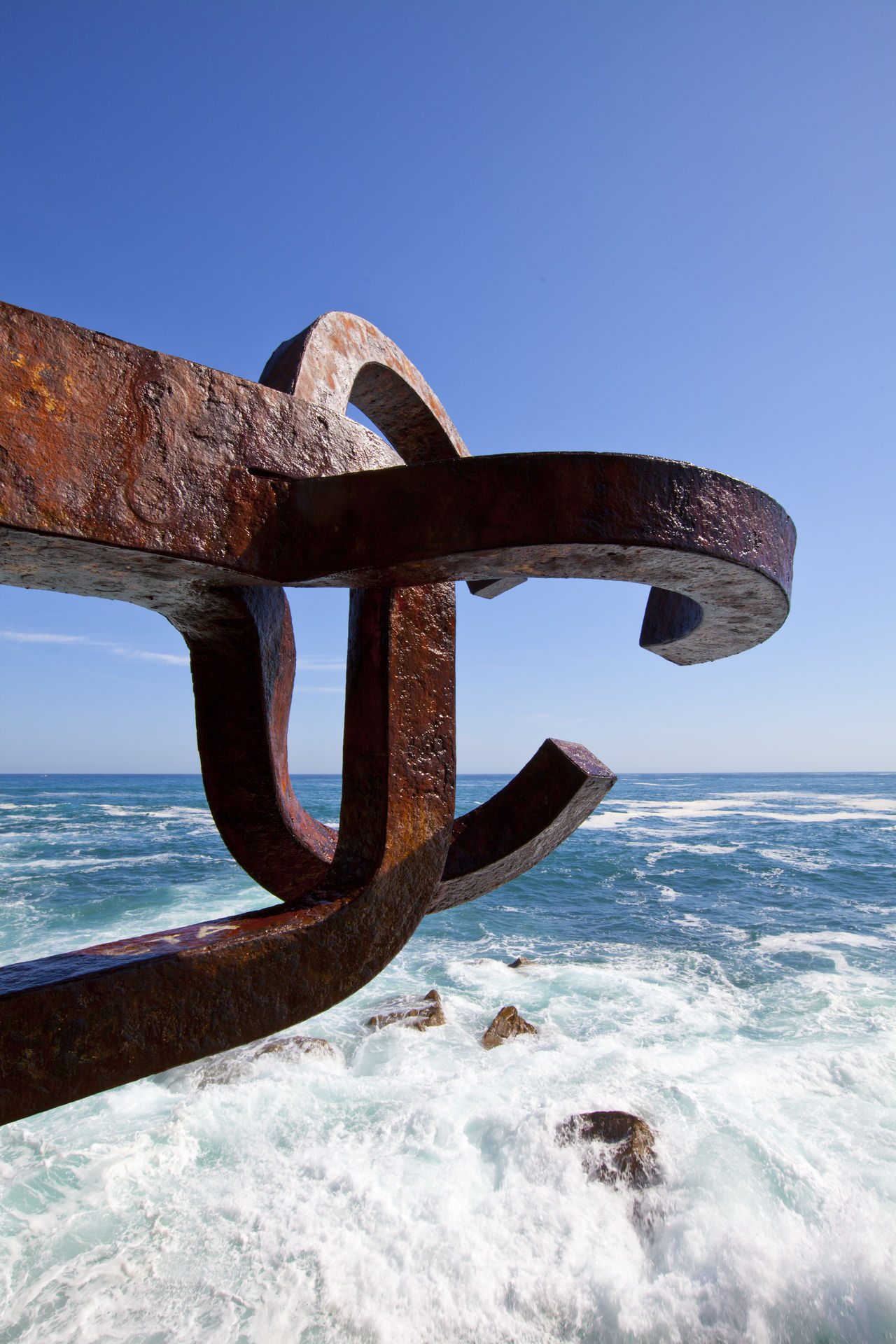 Blue Sea Donostia / San Sebastián El Peine Del Viento En Donostia Ocean Waves Peine De Los Vientos Peine Del Viento Sea Viento Waves