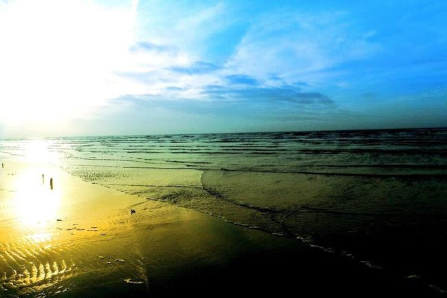 Sea Water Beach Horizon Over Water Sun Tranquil Scene Scenics Shore Sand Reflection Sky Tranquility Coastline Beauty In Nature Idyllic Seascape Calm Cloud Nature St. Peter Ording Eiderstedt Nordfriesland Northsea Nordseeküste Germany