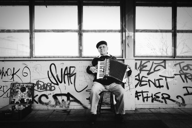 the accordionist Streetphotography Streetphoto_bw Black And White Blackandwhite Music Is My Life Streetmusician