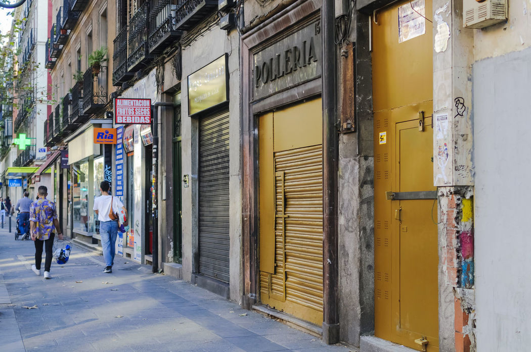 Closed doors of an old chicken roastery in th centre of Madrid. Architecture Brown Building Exterior Built Structure Closed Day Editorial  Old Outdoors People Real People Roastery Store Street Streetphotography Tourism Travel