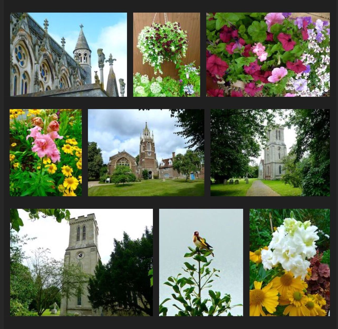 Church Flowers Collage