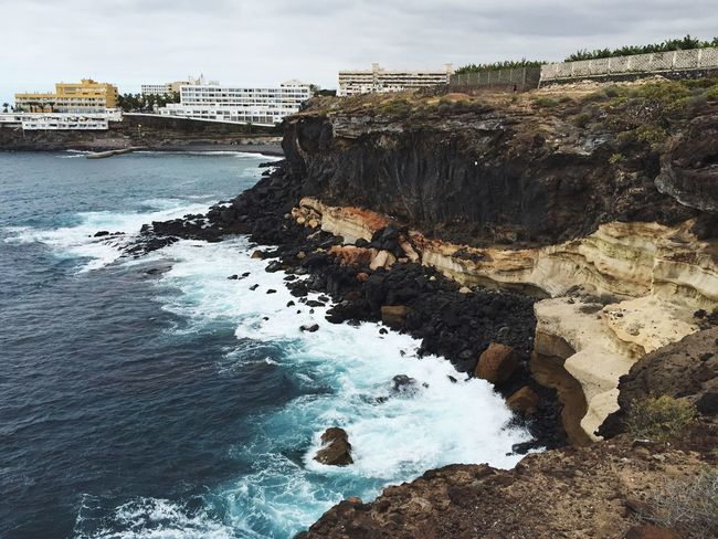 Shore Seaside Seashore Vulcano Island Waves And Rocks Waves, Ocean, Nature Waves Crashing Waves Canary Islands