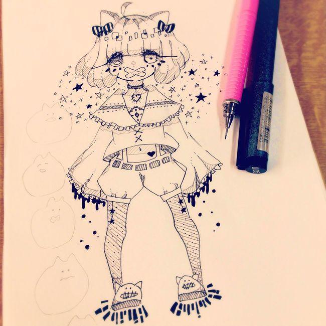 猫耳 幼女 Drawing Illustration Girl Art