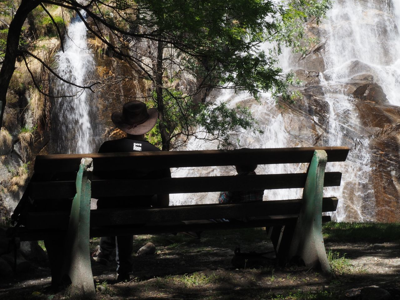 Alps Beauty In Nature Child Childhood Day Forest Growth Mountain Nature Outdoors People Real People Scenics Switzerland Ticino Tree Two People Waterfall Wood - Material