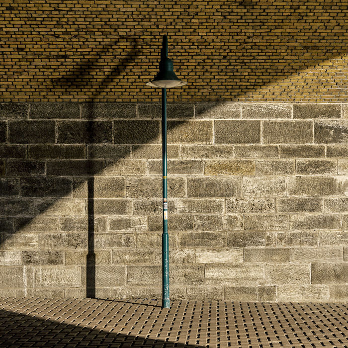 Light Street Lamp Architecture Brick Wall Built Structure Day Outdoors Shodow Shodowplay