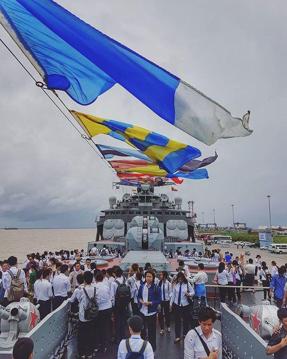 Russian Submarine Destroyer Igersmyanmar Myanmar Burma Yangon Rangoon Thilawa Thilawaport