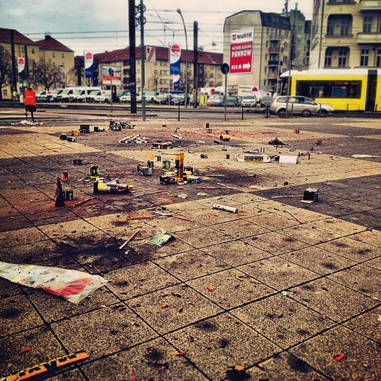 Mess post celebration. Berlin 2014 NYE Someoneneedstocleanthis